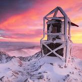 Sunrise at Musala peak