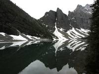 From trail on lake agnes, Mount Niblock photo