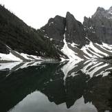 From trail on lake agnes, Mount Niblock