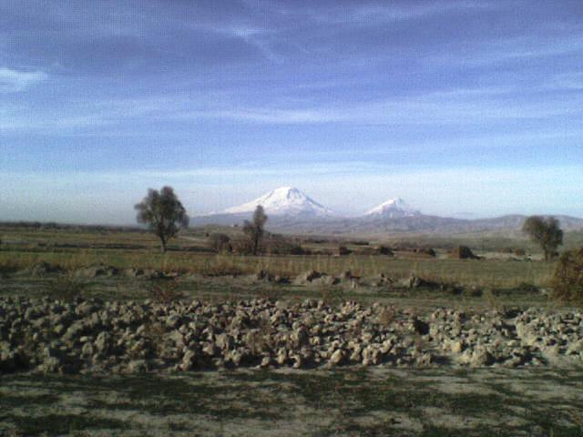 ararat mount view from small danalo- iran, Mount Ararat or Agri