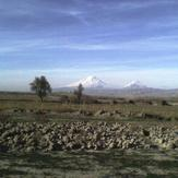 ararat mount view from small danalo- iran, Mount Ararat or Agri