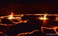 bursting magma bubbles, Erta Ale photo