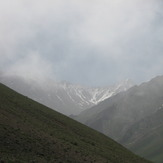 Takht-e-Soleyman peak from 3000 valley, Alam Kuh or Alum Kooh