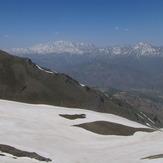 Takht-e-Soleyman massif from kahar peak, Alam Kuh or Alum Kooh