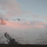Lenin view from Camp1 (4400 m), Pik Lenin