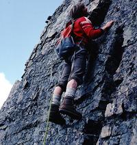 Sepp Renner leading on Grassi Ridge, Wiwaxy Peak photo