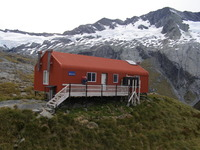 French Ridge hut on way to Mt Aspiring, Mount Aspiring photo