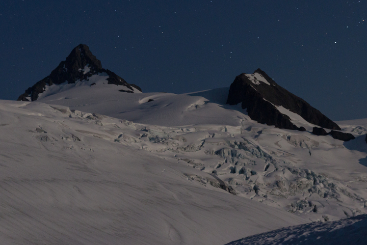 Moonlight on Mt. Shuksan and the Sulfide Glacier, Mount Shuksan