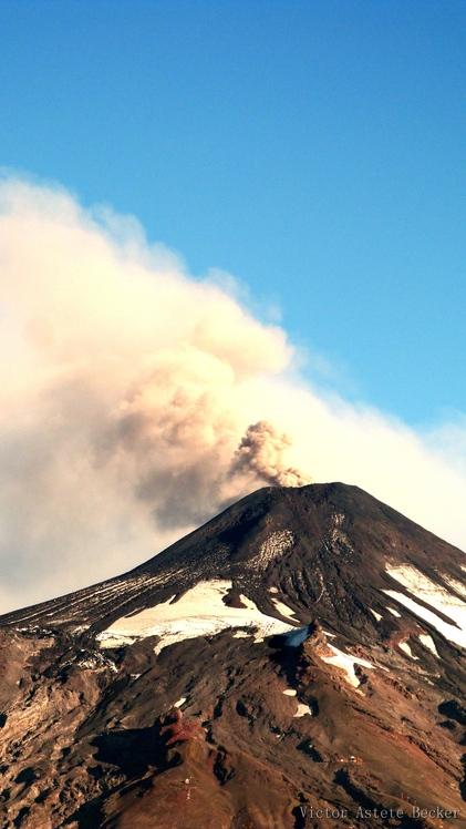 Villarrica en Pre Erupción, Volcan Villarrica