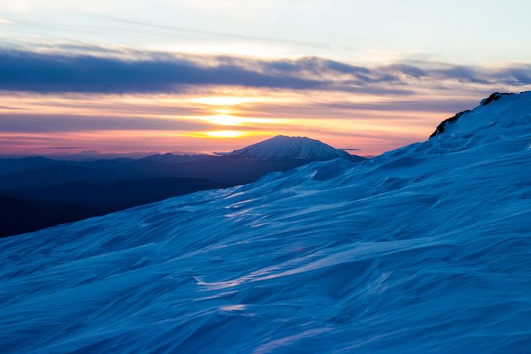 Mt. St. Helens at Sunset, Mount Saint Helens