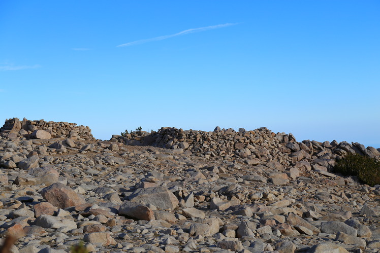 Interesting mounds of rocks at summit, San Gorgonio