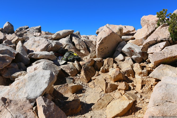 View from peak, my pack is somewhere in there., San Gorgonio