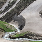 Famous glacier of aghdagh, Sahand