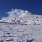 Etna summit in winter, Monte Etna