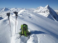 Grande Motte summit in winter photo