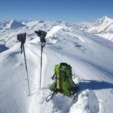 Grande Motte summit in winter