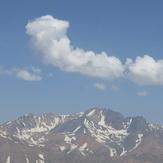 Alamkouh from Zarrinkouh peak, Alam Kuh or Alum Kooh