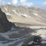 Haftkhan ridge and glacier, Alam Kuh or Alum Kooh