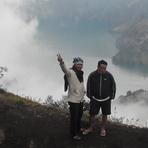 on Sembalun crater rim Rinjani Mount Lombok, Mount Rinjani