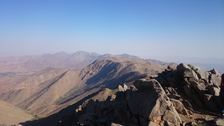view of alvand from yakhchal peak