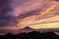 View of Mount Fuji from Hiru at sunset, Mount Hiru photo
