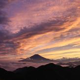 View of Mount Fuji from Hiru at sunset, Mount Hiru