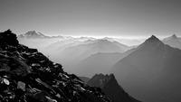 Glacier Peak, Mount Pugh and Sloan Peak from White Chuck Mountain. photo