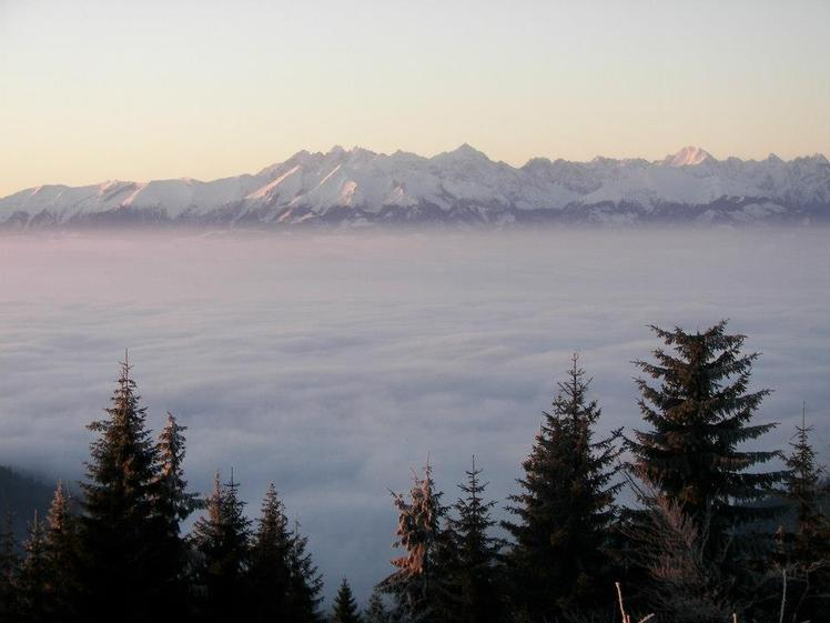 Winter look at High Tatra mountains form Turbacz.