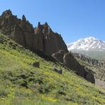 Sabalan peak from the Shirvan valley