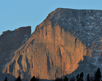 Sunrise on the Diamond, Longs Peak photo