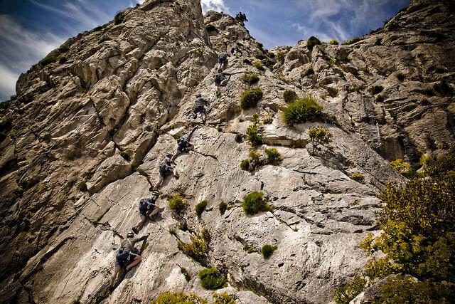 Climbing at Varibobi, Mt. Parnitha