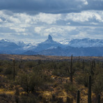 Contrasting Landscapes, Weaver's Needle