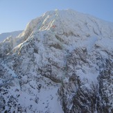 "winter gigilos with ""hard ice on the rocks"" M5+ WI4+ 780m, Gingilos"