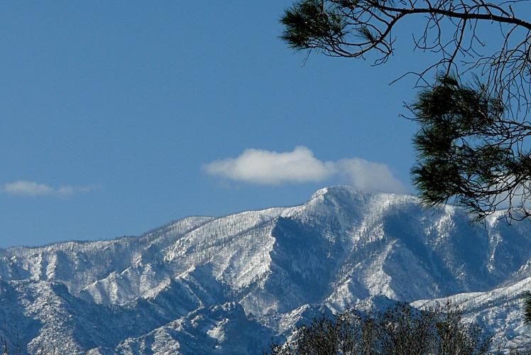 Winter shot of Mount Graham, AZ