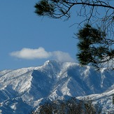 Winter shot of Mount Graham, AZ