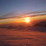 Sunrise at muses plateau., Mount Olympus