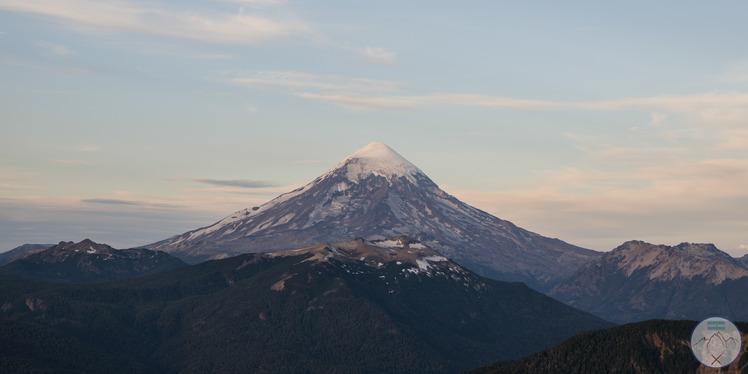 Atardecer en el Lanín, Volcan Lanin