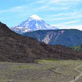 Primera vista del Lanín, Volcan Lanin