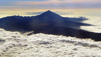 Pico de Teide over the clouds photo