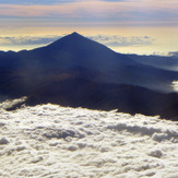 Pico de Teide over the clouds