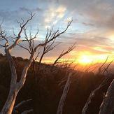 Sunset at Federation Hut, Mount Feathertop