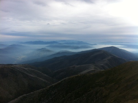 From summit in Autumn, Mount Feathertop