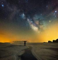 Milky way over Ormieh Lake (Naser Ramezani), Shaho photo