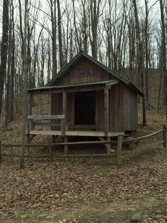 Birch Knob Shelter on Pine Mountain Trail, Pine Mountain (Appalachian Mountains)