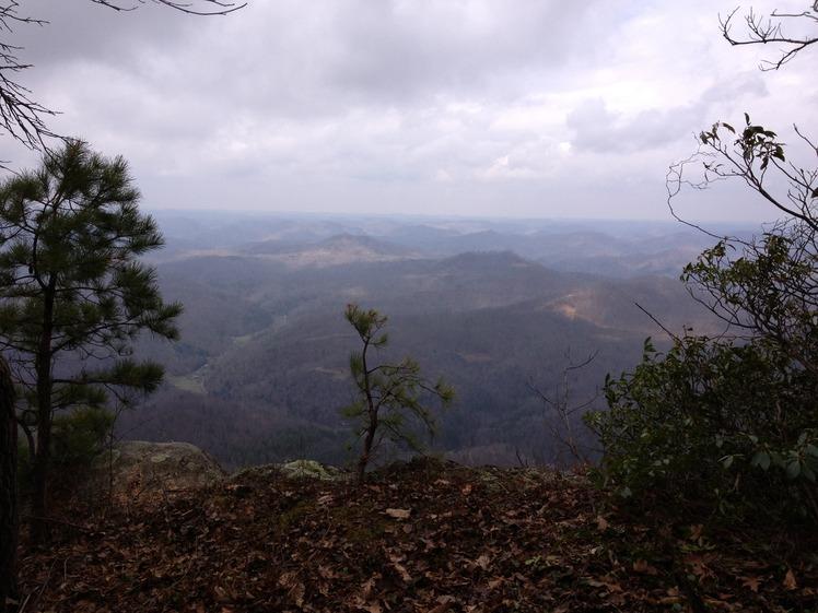 AmeriCorps Cliff on the Pine Mountain Trail, Pine Mountain (Appalachian Mountains)