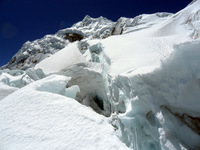 Chopicalqui crevasses photo