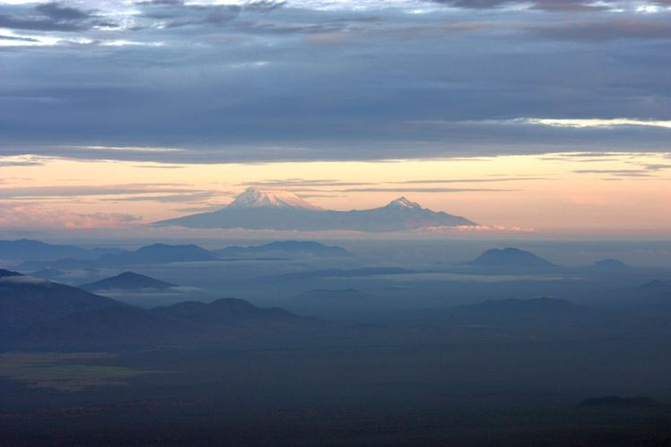 Kili at sunrise, Mount Kilimanjaro