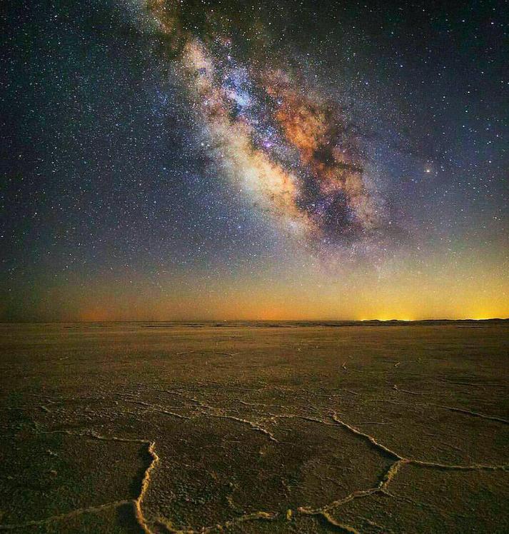 Naser Ramezani: Milky Way over Loot Desert, Hazaran
