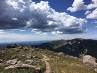 view of Lake Peak from Santa Fe Baldy photo