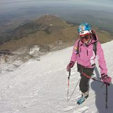 Pico de Orizaba South face hapy day